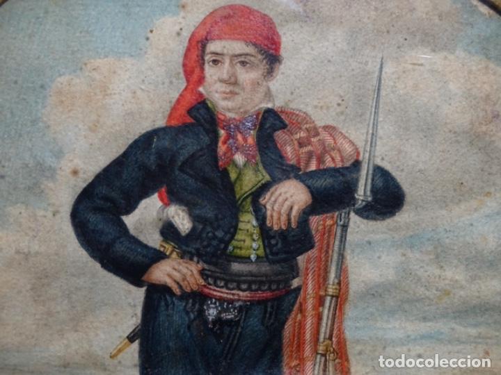Arte: ACUARELA DEL SIGLO XIX. SOMATEN SORDO MUDO JOSÉ ROVIRA I PUIGJANER DE TIANA.UBACH. - Foto 3 - 231770935