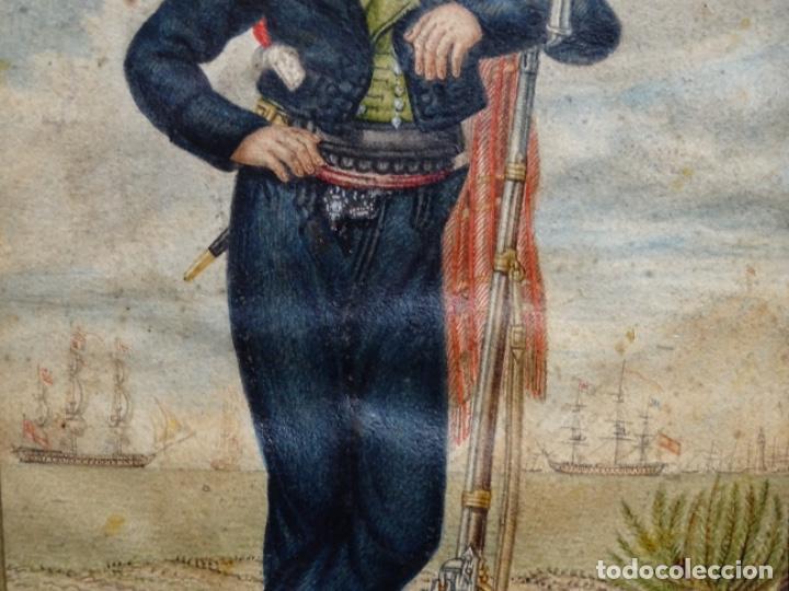 Arte: ACUARELA DEL SIGLO XIX. SOMATEN SORDO MUDO JOSÉ ROVIRA I PUIGJANER DE TIANA.UBACH. - Foto 4 - 231770935