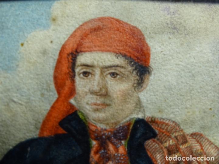Arte: ACUARELA DEL SIGLO XIX. SOMATEN SORDO MUDO JOSÉ ROVIRA I PUIGJANER DE TIANA.UBACH. - Foto 6 - 231770935