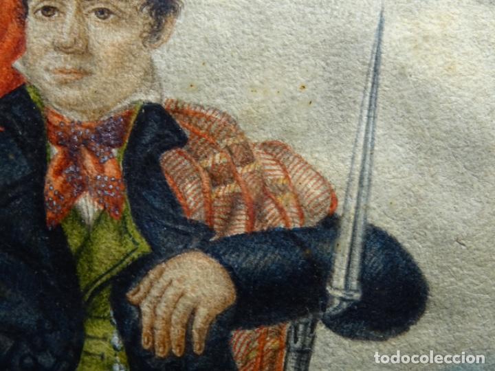 Arte: ACUARELA DEL SIGLO XIX. SOMATEN SORDO MUDO JOSÉ ROVIRA I PUIGJANER DE TIANA.UBACH. - Foto 7 - 231770935
