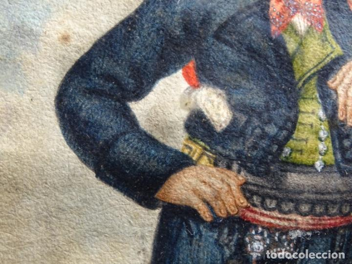 Arte: ACUARELA DEL SIGLO XIX. SOMATEN SORDO MUDO JOSÉ ROVIRA I PUIGJANER DE TIANA.UBACH. - Foto 8 - 231770935