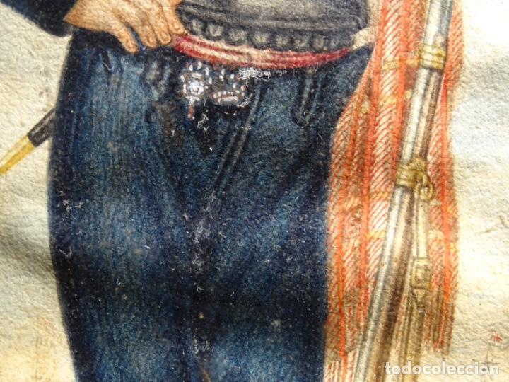 Arte: ACUARELA DEL SIGLO XIX. SOMATEN SORDO MUDO JOSÉ ROVIRA I PUIGJANER DE TIANA.UBACH. - Foto 9 - 231770935