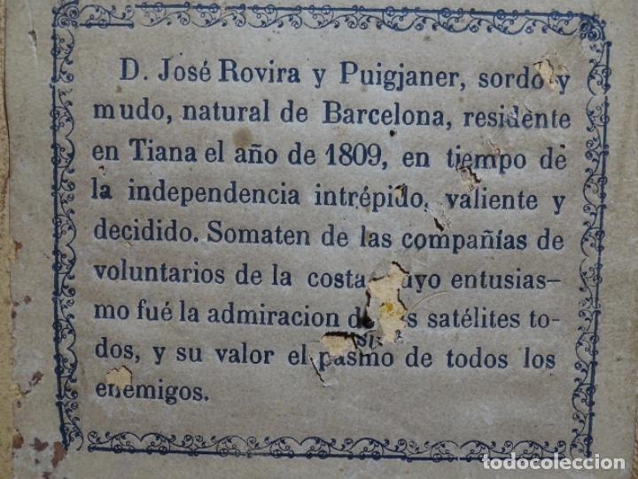 Arte: ACUARELA DEL SIGLO XIX. SOMATEN SORDO MUDO JOSÉ ROVIRA I PUIGJANER DE TIANA.UBACH. - Foto 23 - 231770935