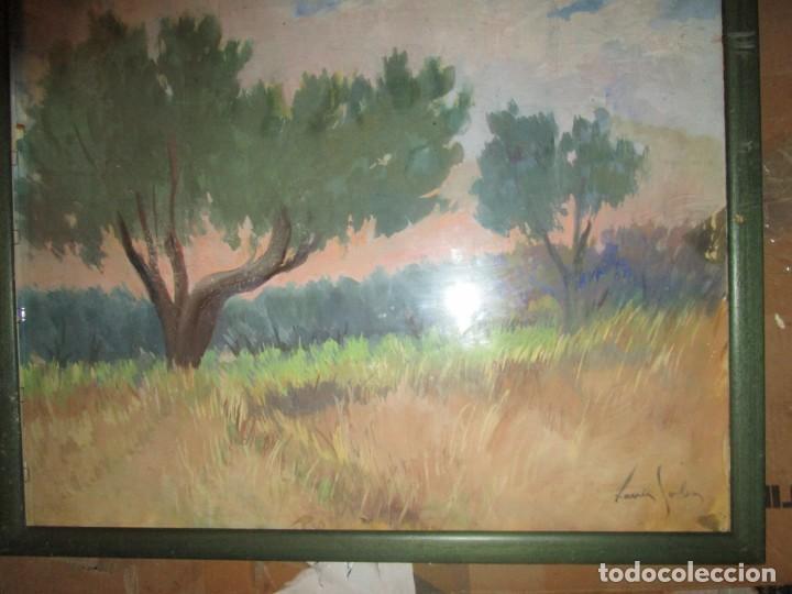 Arte: Xavier Soler antigua acuarela grades dimensiones - Foto 3 - 231849505