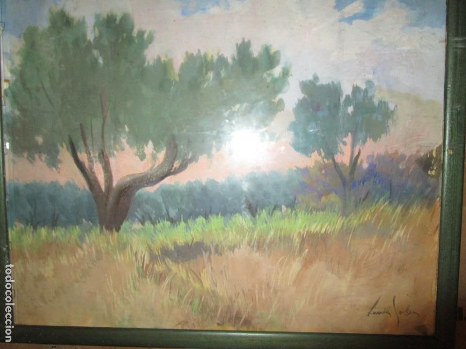 Arte: Xavier Soler antigua acuarela grades dimensiones - Foto 4 - 231849505