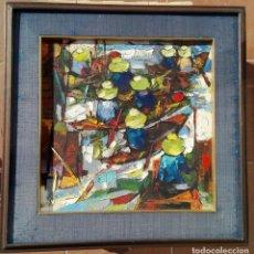 Arte: P. CHAEM DUANG (VIETNAM). OLEO SOBRE TELA ENMARCADO 57 X 57. 1.975. Lote 93713180
