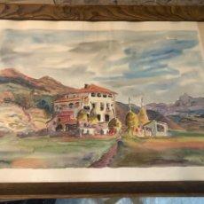 Arte: CASA SANTANDERINA, BONITA ACUARELA FIRMADA. Lote 232184580