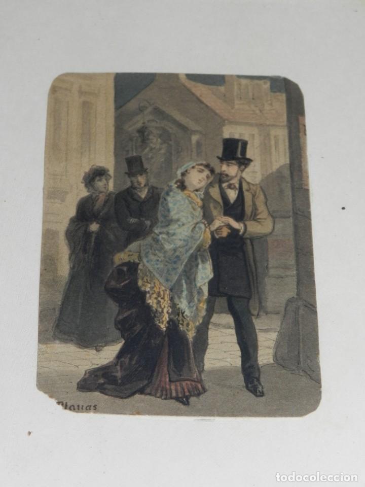Arte: (M) Antigua Acuarela Original del Pintor Eusebi Planas para ilustrar alguna novela romántica . Firma - Foto 2 - 232583655