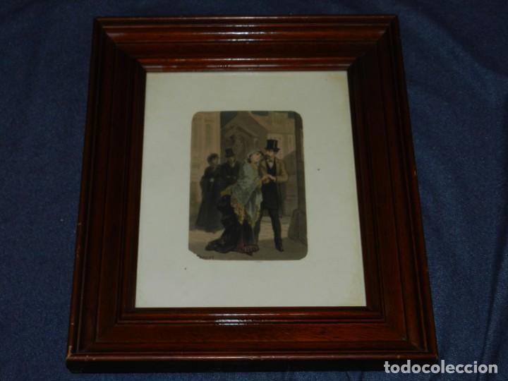 Arte: (M) Antigua Acuarela Original del Pintor Eusebi Planas para ilustrar alguna novela romántica . Firma - Foto 4 - 232583655