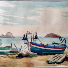 Art: FREDERIC LLOVERAS HERRERA (BARCELONA, 1912 –TOSSA DE MAR, 1983) ACUARELA DE TEMÁTICA MARINA. FIRMADA. Lote 232682330