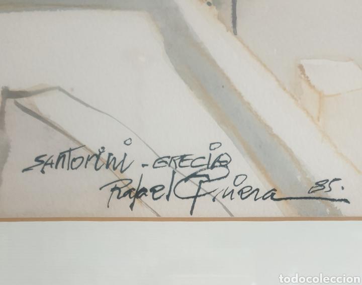 Arte: Rafael Griera Calderón (Las Palmas,1934 - Olot, 2018) - 2 Vistas de Santorini,Grecia.Firmadas.1985. - Foto 4 - 233492820