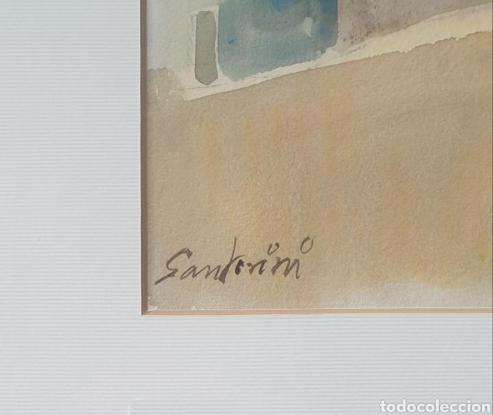 Arte: Rafael Griera Calderón (Las Palmas,1934 - Olot, 2018) - 2 Vistas de Santorini,Grecia.Firmadas.1985. - Foto 6 - 233492820