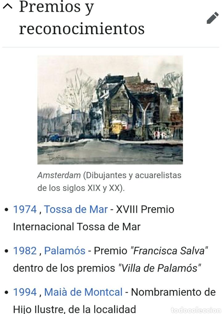 Arte: Josep Cruañas Fages (Maià de Montcal,Girona, 1942) - Puerto de Honfleur,Normandia.Firmada. - Foto 6 - 233511950