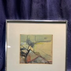 Arte: COMPOSICION ABSTRACTA GOUACHE TIZAS CARBONCILLO FIRMA ARABE AÑOS 60 80 43X46CMS. Lote 234691485