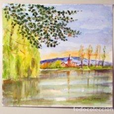 Arte: GALLARDE, ELVIRA - DUES AQUAREL·LES. Lote 235038840