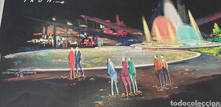 Arte: Acuarela García Santos Proyecto fuente luminosa 1972 .Construcciones Irun. Enclavamientos y señales - Foto 2 - 235178115