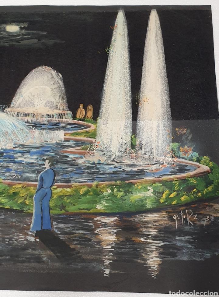 Arte: Acuarela Gutierrez Proyecto fuente luminosa 1973 - Foto 4 - 235182515