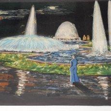 Arte: ACUARELA GUTIERREZ PROYECTO FUENTE LUMINOSA 1973. Lote 235182515