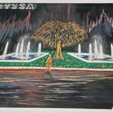 Arte: CALVO ACUARELA SOBRE CARTULINA PROYECTO FUENTE LUMINOSA EYSSA SIGLO XX CONTEMPORÁNEO. Lote 235183190