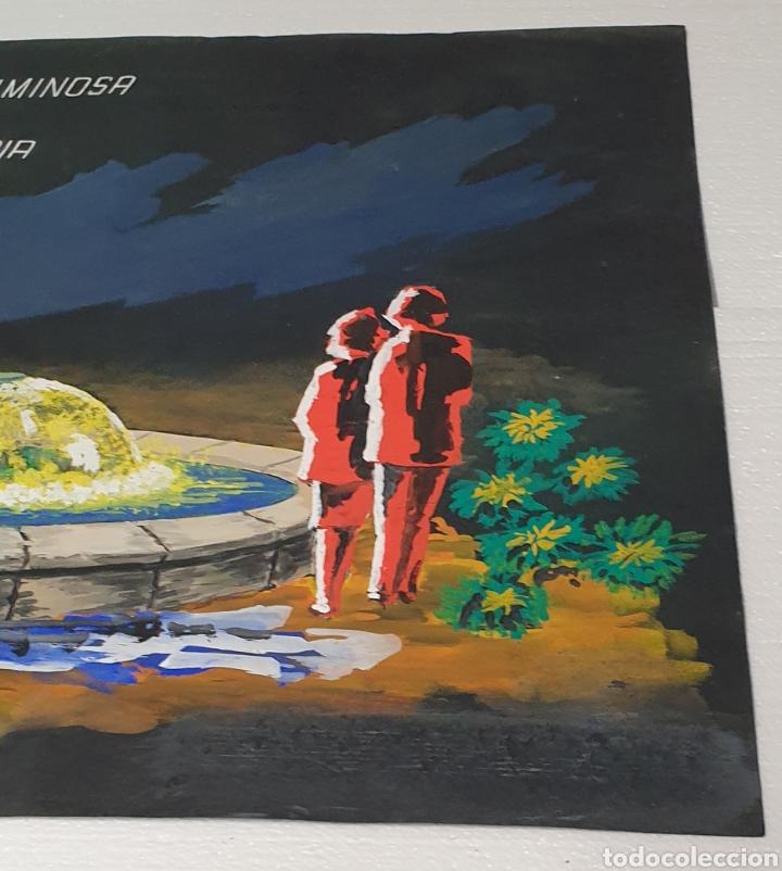 Arte: Acuarela Ricart 1973 Proyecto fuente luminosa Las Palmas de Gran Canaria Acuarela sobre cartulina - Foto 4 - 235183855