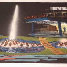 Arte: FIRMADO ACUARELA SOBRE CARTULINA SIGLO XX PROYECTO FUENTE LUMINOSA EYSSA. Lote 235184495