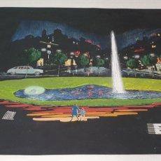 Arte: FIRMADO PROYECTO FUENTE LUMINOSA EYSSA ACUARELA SOBRE CARTULINA SIGLO XX. Lote 235184915
