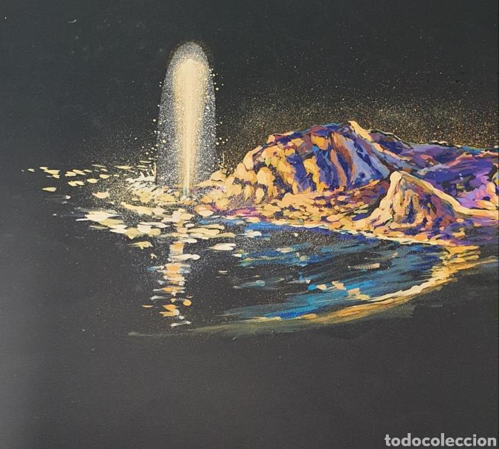 Arte: Fuente luminosa Acuarela sobre cartulina Siglo XX Contemporáneo - Foto 2 - 235185920