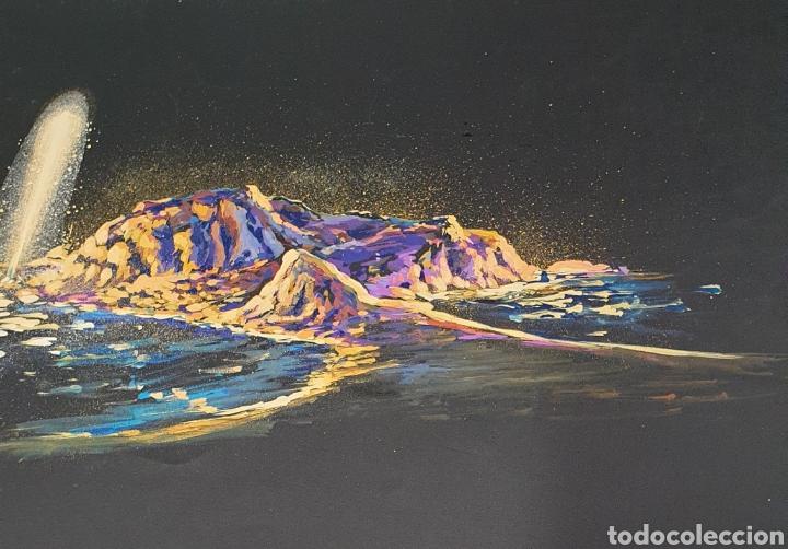 Arte: Fuente luminosa Acuarela sobre cartulina Siglo XX Contemporáneo - Foto 3 - 235185920