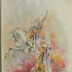 Arte: ACUARELA ORIGINAL DE EMILIO CARBONELL DE MOROS Y CRISTIANOS DE ALCOY. Lote 235208630