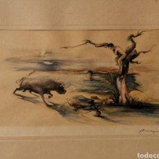 Arte: ACUARELA TAURINA DE MURCIA - VALCARCEL. Lote 235229725
