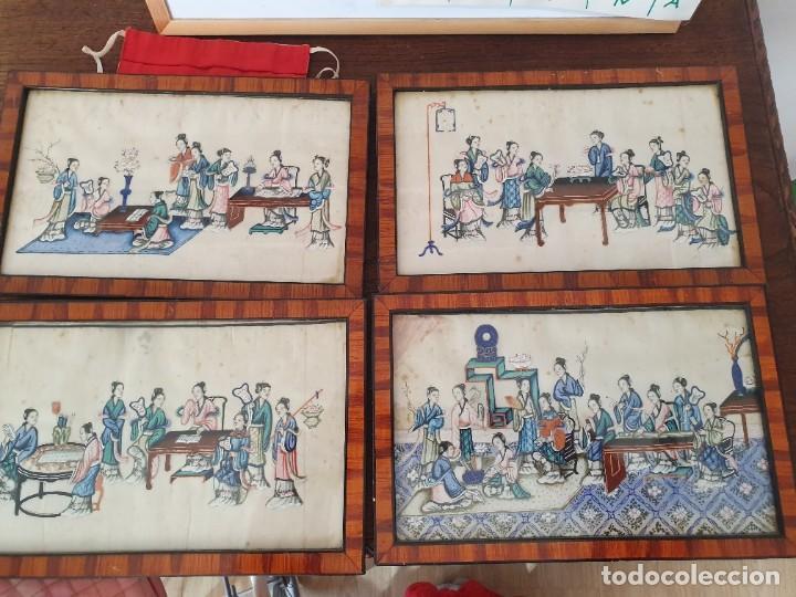 PINTURA CHINA PAPEL ARROZ (Arte - Acuarelas - Modernas siglo XIX)