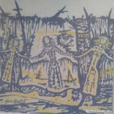 Arte: JOAN BROTAT: FIGURAS BAILANDO. ENMARCADO. Lote 235665380
