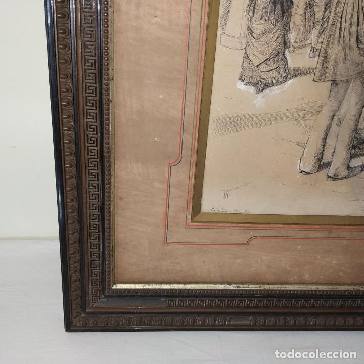 Arte: FIESTAS DE BARCELONA. FIRMA DESCONOCIDA. ACUARELA SOBRE PAPEL. ESPAÑA. 1884 - Foto 7 - 235676785