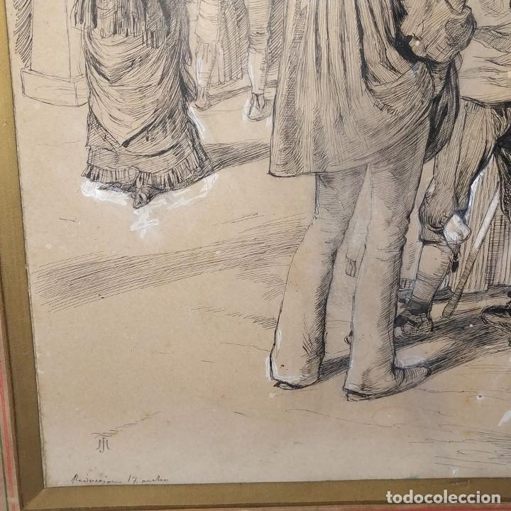 Arte: FIESTAS DE BARCELONA. FIRMA DESCONOCIDA. ACUARELA SOBRE PAPEL. ESPAÑA. 1884 - Foto 12 - 235676785