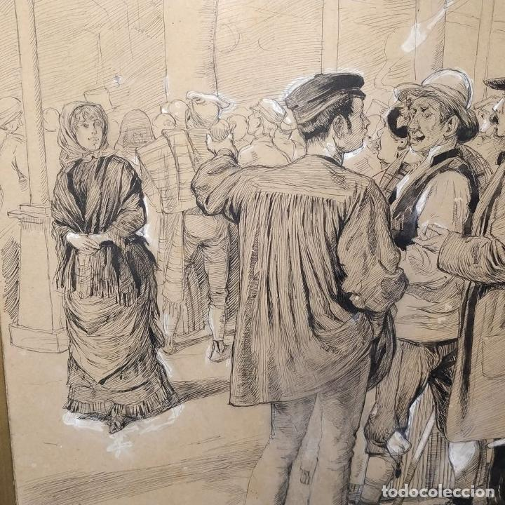 Arte: FIESTAS DE BARCELONA. FIRMA DESCONOCIDA. ACUARELA SOBRE PAPEL. ESPAÑA. 1884 - Foto 13 - 235676785