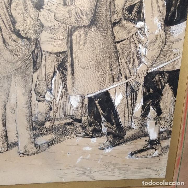 Arte: FIESTAS DE BARCELONA. FIRMA DESCONOCIDA. ACUARELA SOBRE PAPEL. ESPAÑA. 1884 - Foto 15 - 235676785