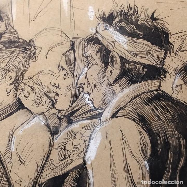 Arte: FIESTAS DE BARCELONA. FIRMA DESCONOCIDA. ACUARELA SOBRE PAPEL. ESPAÑA. 1884 - Foto 16 - 235676785