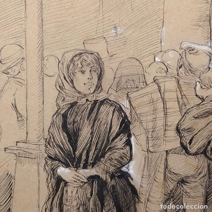 Arte: FIESTAS DE BARCELONA. FIRMA DESCONOCIDA. ACUARELA SOBRE PAPEL. ESPAÑA. 1884 - Foto 17 - 235676785