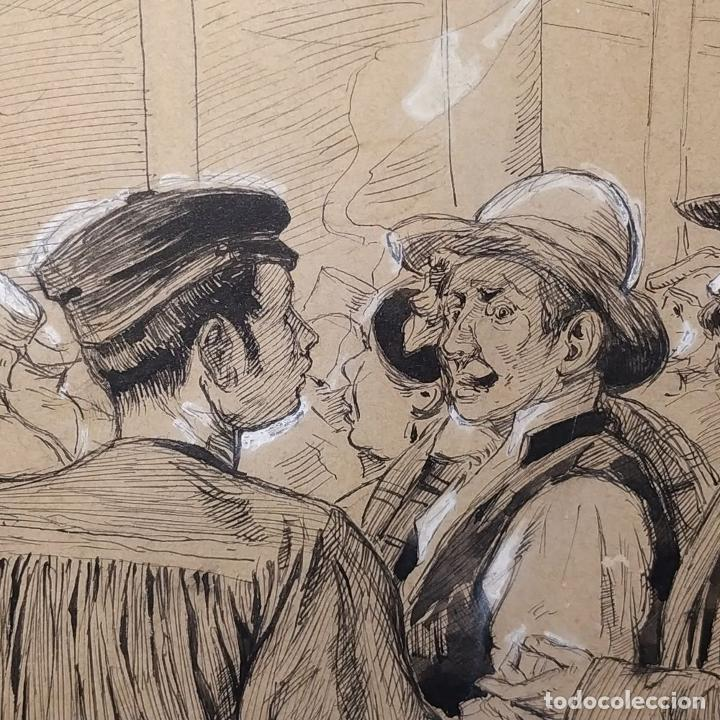 Arte: FIESTAS DE BARCELONA. FIRMA DESCONOCIDA. ACUARELA SOBRE PAPEL. ESPAÑA. 1884 - Foto 18 - 235676785