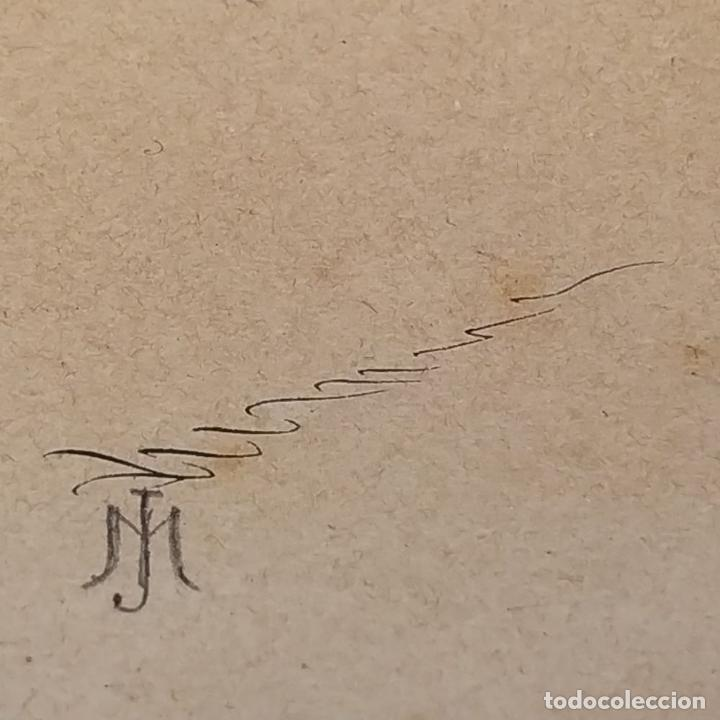 Arte: FIESTAS DE BARCELONA. FIRMA DESCONOCIDA. ACUARELA SOBRE PAPEL. ESPAÑA. 1884 - Foto 22 - 235676785