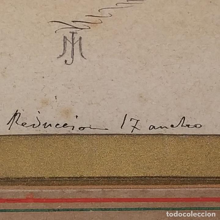 Arte: FIESTAS DE BARCELONA. FIRMA DESCONOCIDA. ACUARELA SOBRE PAPEL. ESPAÑA. 1884 - Foto 24 - 235676785