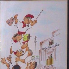 Arte: X.CUGAT CASTELLER TOCANDO EL VIOLIN, ROTULADOR COBRE CARTULINA, 30X25 APROX.. Lote 235925355