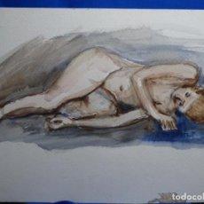 Arte: ACUARELA ANÓNIMA.TONOS SUAVES.. Lote 235937010