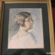 Arte: PRECIOSO RETRATO ACUARELA, FIRMADO. MENSA I SALA 1875-1935.. Lote 72043379