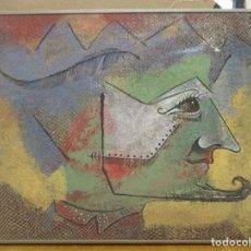 Arte: CUADRO DE ANTONIO COLLADO - ARLEQUIN - AÑOS 80 - ENMARCADO - ADJUNTO BIOGRAFIA. Lote 236183640