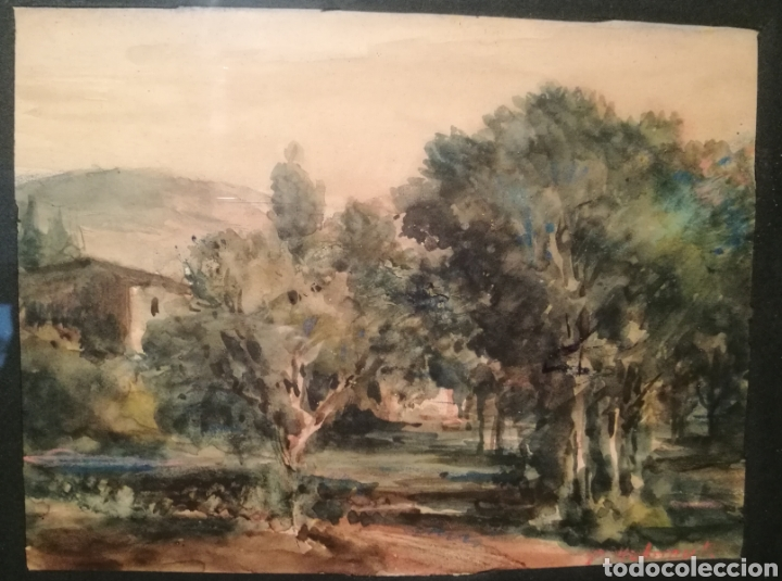 Arte: PAISAJE RURAL POR PERE MÁRTIR ARRAUT (PUIGCERDÀ, ÚLTIMO TERCIO DEL S.XIX) - Foto 2 - 236353240