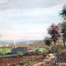 Arte: JOAN DE PALAU - PAISAJE - ACUARELA - 30,5 X 40,5 CM.. Lote 236514080