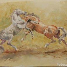 Arte: ACUARELA ORIGINAL DE EMILIO CARBONELL. Lote 236877320