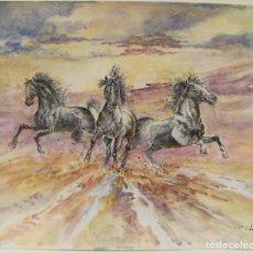 Arte: ACUARELA ORIGINAL DE EMILIO CARBONELL. Lote 236881805