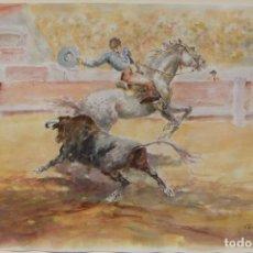 Arte: ACUARELA ORIGINAL DE EMILIO CARBONELL. Lote 236882760